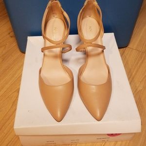 Womens Nine West Nude Strap Shoe